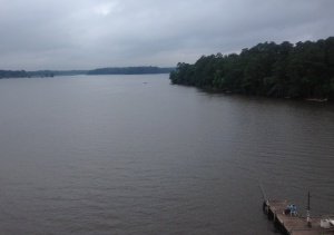 View from atop the Chickahominy River Bridge.
