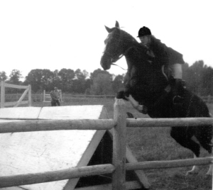 Me in the arena, show-jumping Willie. 1972.