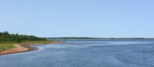 Two of the views along the Confederation Trail where the woodsy area broke and you could see the shoreline.