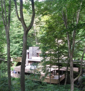 Fallingwater from above.