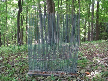 This wind chime sculpture buzzed with the flow of air across its tines