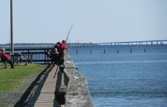 Many fisher-people were enjoying the day