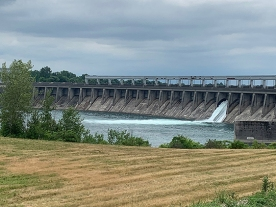 Long Sault Dam from the other side