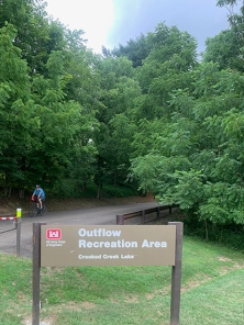 Climbing out of Outflow Rec Area